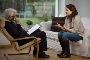 woman talking to therapist shutterstock_247411348